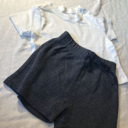 0-3 Month Shorts and White Tee